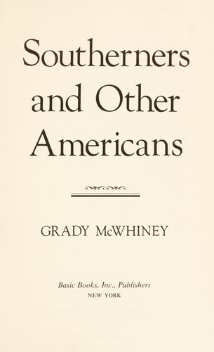 Southerners and other Americans by Grady McWhiney