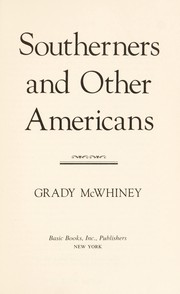 Cover of: Southerners and other Americans | Grady McWhiney