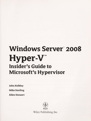 Cover of: Windows server 2008 Hyper-V | John Kelbley