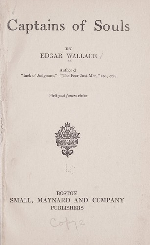 Captains of souls by Edgar Wallace