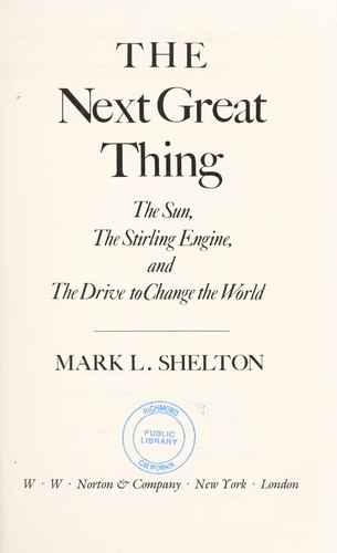 The next great thing by Mark L. Shelton