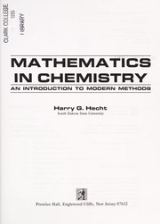 Cover of: Mathematics in chemistry | Harry G. Hecht