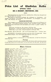 Cover of: Wholesale price list of gladiolus bulbs | Geo. S. Woodruff (Firm)