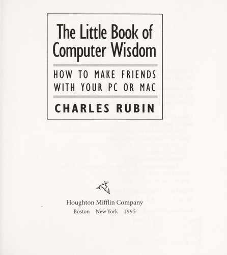 The little book of computer wisdom by Charles Rubin