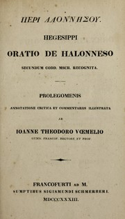 Cover of: Peri Alonnēsou by Hegesippus of Athens (Sunion)
