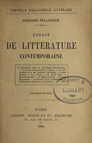 Cover of: Essais de litte rature contemporaine | Georges Pellissier