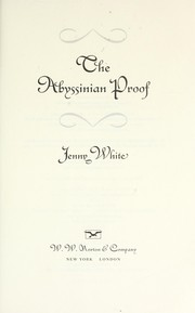 Cover of: The Abyssinian proof | Jenny B. White