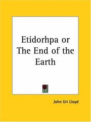 Cover of: Etidorhpa or The End of the Earth | John U. Lloyd