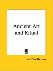 Cover of: Ancient Art and Ritual | Jane E. Harrison