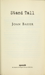 Cover of: Stand tall | Joan Bauer