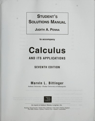 9780073268453: student's solution manual to accompany calculus.
