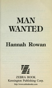 Cover of: Man wanted by Hannah Rowan
