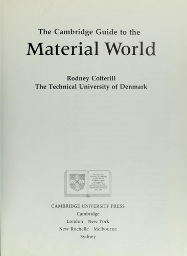 the material world cotterill rodney