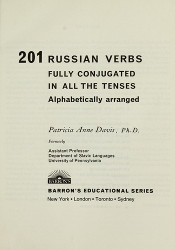 201 Russian verbs by