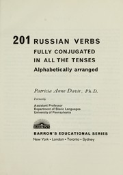 Cover of: 201 Russian verbs |