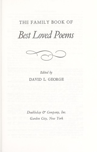 Family Book of Best Loved Poems by David L. George