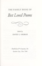 Cover of: Family Book of Best Loved Poems | David L. George