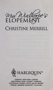 Cover of: Miss Winthorpe's elopement | Christine Merrill