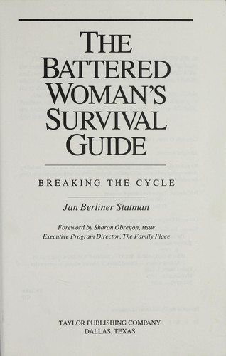 The battered woman's survival guide by Jan Berliner Statman
