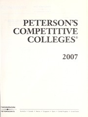 Cover of: Peterson's Competitive Colleges 2007 by Fern A. Oram