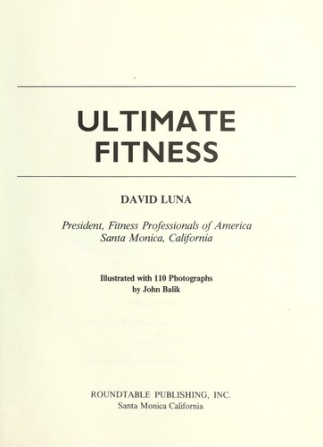 Ultimate fitness by David Luna