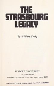 Cover of: The Strasbourg legacy | Craig, William