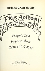 Cover of: Three complete novels | Piers Anthony