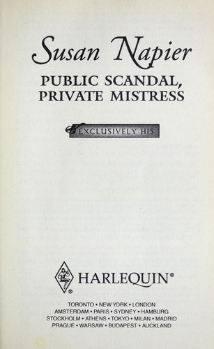 Public scandal, private mistress by Susan Napier