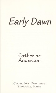 Cover of: Early dawn | Catherine Anderson