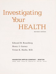 Cover of: Investigating your health | Edward B Rosenberg