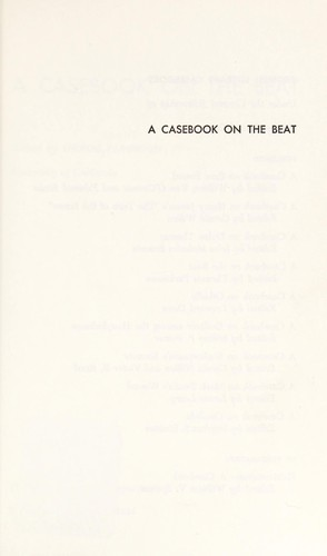 A casebook on the beat by Thomas Francis Parkinson