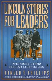 Cover of: Lincoln stories for leaders by Abraham Lincoln