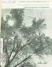 Cover of: Managing our environment by United States. Agricultural Research Service.