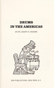Cover of: Drums in the Americas | Joseph H. Howard