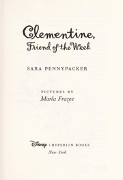 Cover of: Clementine, Friend of the Week | Sara Pennypacker