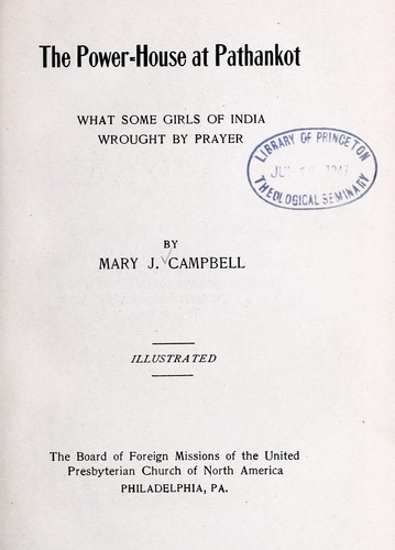 The power-house at Pathankot by Mary Jane Campbell