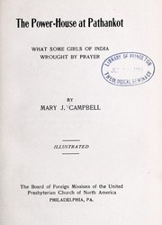 Cover of: The power-house at Pathankot by Mary Jane Campbell