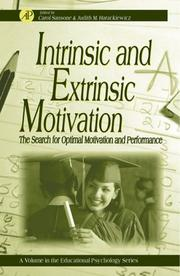 Cover of: Intrinsic and extrinsic motivation | Judith M. Harackiewicz