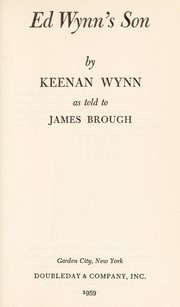 Cover of: Ed Wynn's son | Keenan Wynn