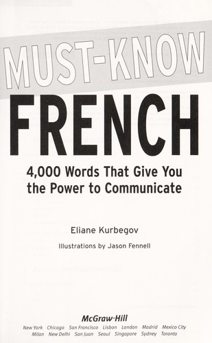 Must know French by Eliane Kurbegov