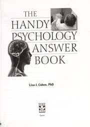 Cover of: The handy psychology answer book | Lisa J. Cohen