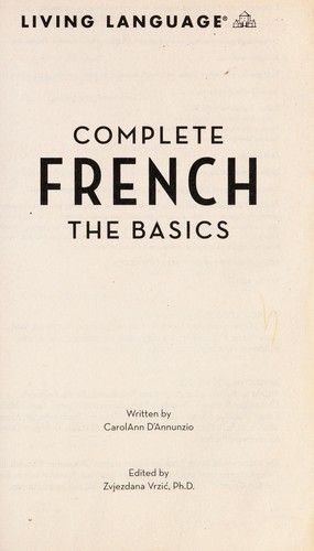 Complete French by CarolAnn D'Annunzio