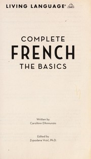 Cover of: Complete French | CarolAnn D'Annunzio