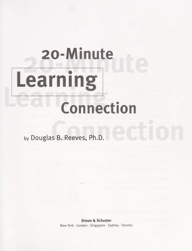 20-minute learning connection by Douglas B. Reeves