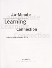 Cover of: 20-minute learning connection by Douglas B. Reeves