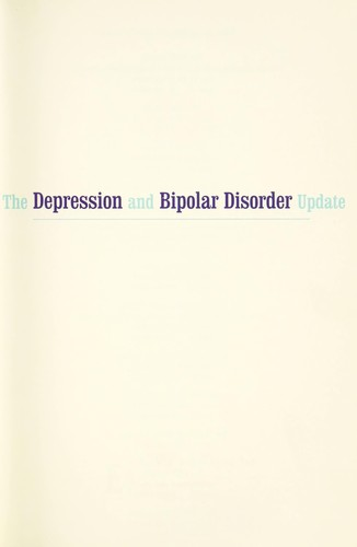 The depression and bipolar disorder update by Alvin Silverstein