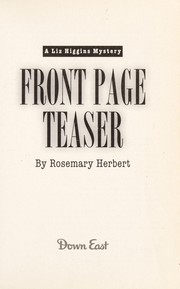Cover of: Front page teaser | Rosemary Herbert