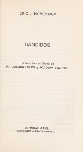 Bandidos by Eric Hobsbawm