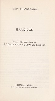 Cover of: Bandidos by Eric Hobsbawm