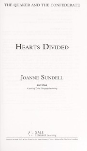 Cover of: Hearts divided | Joanne Sundell